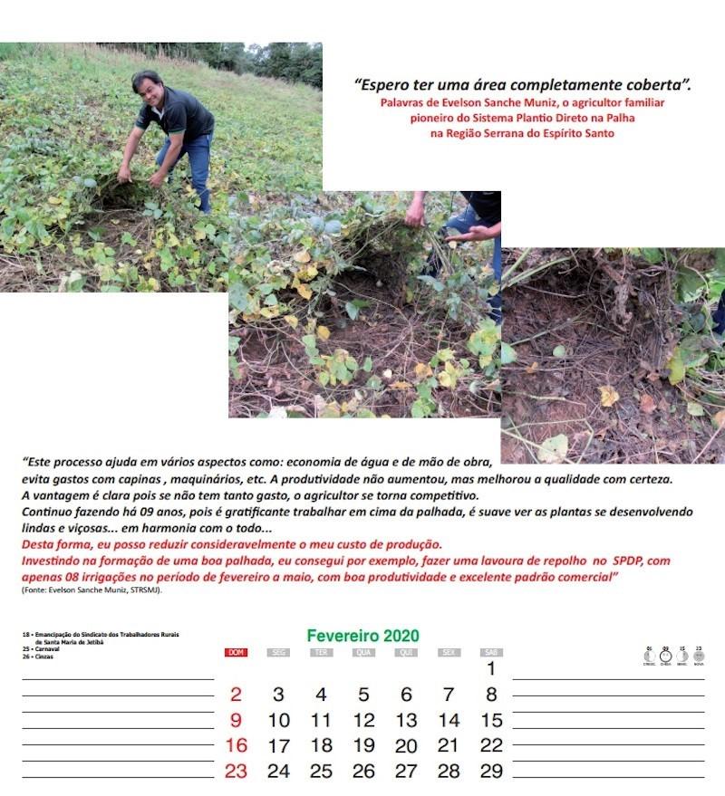 Agricultores recebem informações por meio do calendário de 2020 1