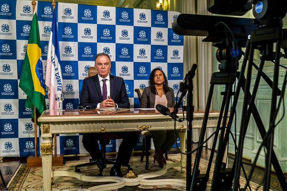 Por videoconferência, Casagrande pede união e responsabilidade em reunião com Bolsonaro 1