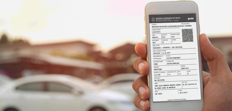 Proprietários podem emitir o Certificado de Registro e Licenciamento de Veículo Eletrônico sem sair de casa 1